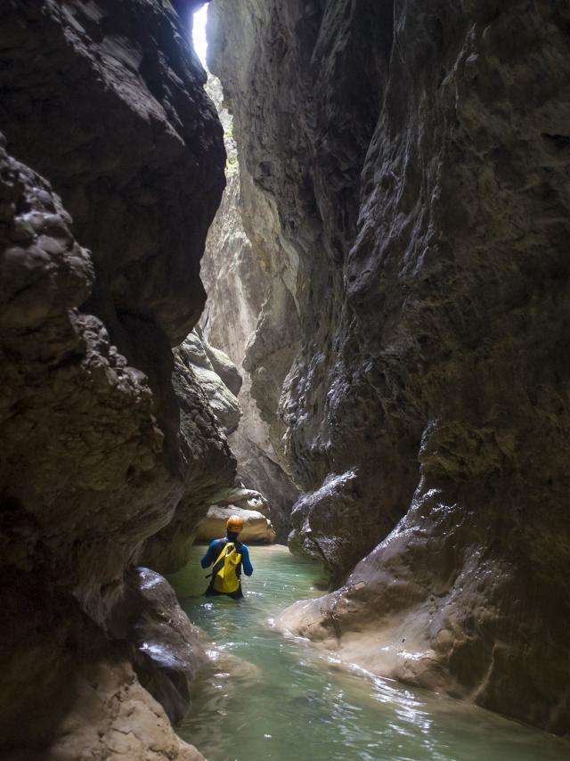 canyon de l'Infernet, Chartreuse, France.